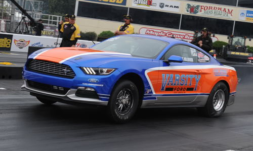 Chris Holbrook ran the quickest ET in Stock eliminator history ever (at 8.119 secs) racing his FS/AA 2016 Mustang - to qualify #1!