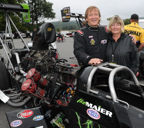 Ike and Karen Maier (from Tottenham ON) continued forward with their determined and independent Top Fuel effort from Canada.