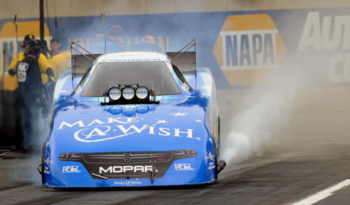 Tommy Johnson Jr rolled to an impressive win for DSR in Funny Car.
