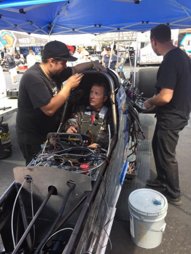 In September, Paul Noakes took some laps driving the Top Fuel dragster owned by Michigan's Bob Leverich.