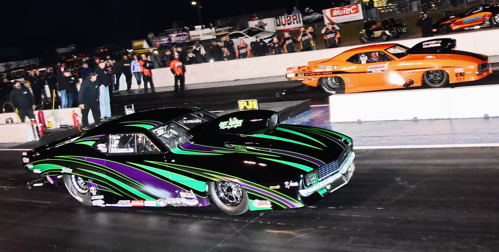 PDRA Pro Nitrous Champ Tommy Franklin (near lane) defeated Jay Cox in the World Finals event final