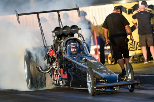 Left coast TAD class powerhouse Shawn Cowie qualified strong at Pomona - but could not handle eventual event winner Joey Severence in round #1