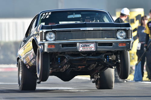 Canada's Bob Gullett earned his first career NHRA national event title - winning in Stock eliminator with his Chevy Nova.