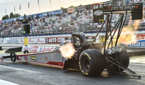 More good stuff and improvement for the Canadian based Paton Racing TF dragster at Pomona. With US-based driver Shawn Reed at the controls the team hit a career quick 3.949 secs to make the TF program.