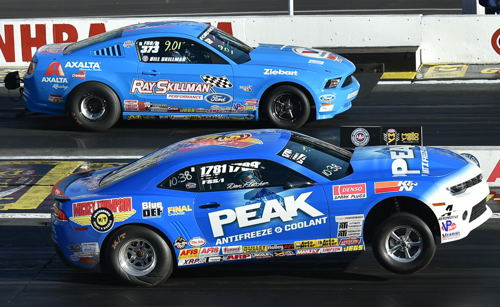 "The Super Stock final was all ""late model"" with Dan Fletcher's COPO holding off the Cobra Jet raced by Bill Skillman"