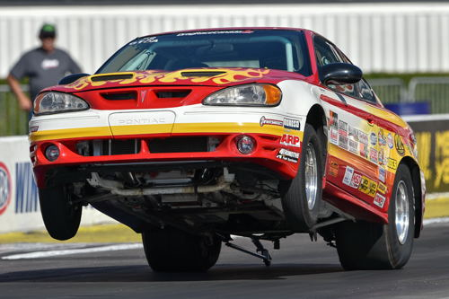 Don Thomas who normally goes deep into eliminations with his Alberta-based Super Stock Grand Am -- was a surprising first round victim this time.