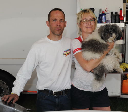 Luc Angers and his wife France (including dog Rocky) have emerged as arguably Quebec's most competitive Top Sportsman class racing teams.