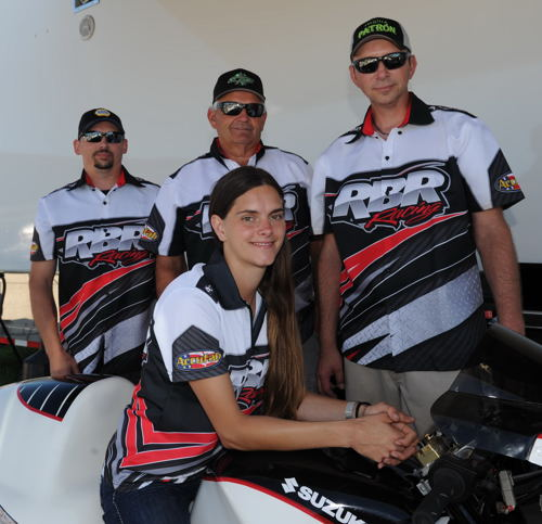 Rob Blair centres Canada's history making first ever all Canadian NHRA Pro Stock Motorcycle effort.
