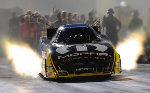 Don Schumacher Racing's Dodge Funny Cars won 14 of 24 NHRA national event races in 2016 - Matt Hagan (above) won four times.