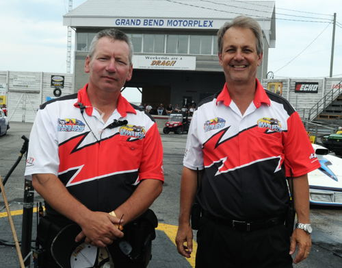 GBM track manager Ron Biekx and President Paul Spriet