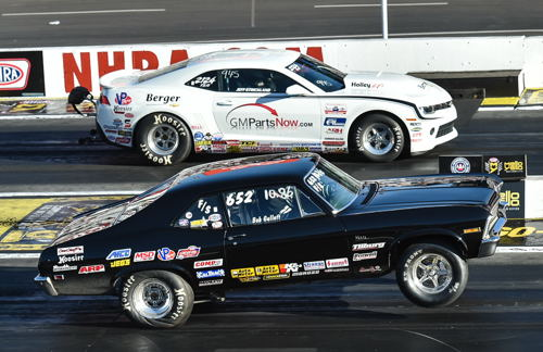 Bob Gullett took full advantage of his first career NHRA final round appearance - holding off newly crowned World Champion Jeff Strickland in the final round trophy dash.