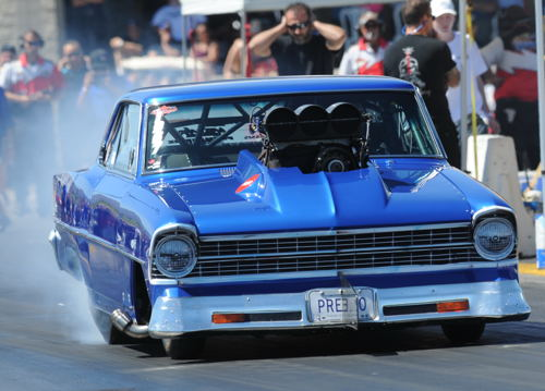 Oakville Ontario's Tony Presto prevailed to win the 2016 Ultimate Showdown Drag Racing Series' Outlaw 10.5 points championship title. Presented by Briggs Racing Engines - Presto's supercharged '67 Chevy II edged out Stratford's Spencer Hyde by only 2 points in the final season tally. 2016 marked the first season for Outlaw 10.5 racing in the USDRS which drew a total of 17 cars