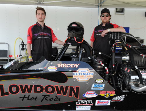 Austin (left) and Brody Van DerGeld are already popular Top Dragster fixtures within Eastern Canada.