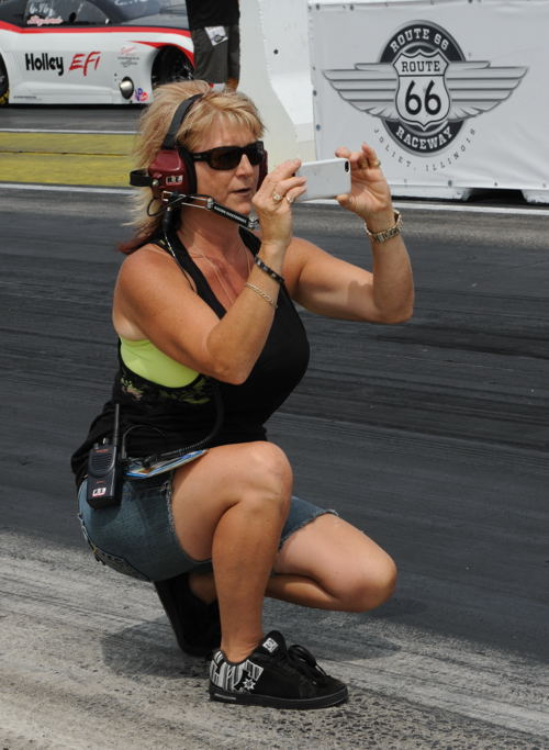 A huge part of the race team's success story is Darlene Williams