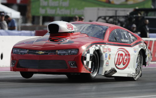 Wily veteran Rickie Smith has prevailed to win his 3rd career NHRA J&A Services Pro Mod World points Championship