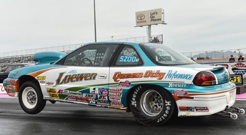 Legendary Western Canadian Super Stock racer Abe Loewen was once again in the mix with his familiar Regina-based SS/DM Grand-Am