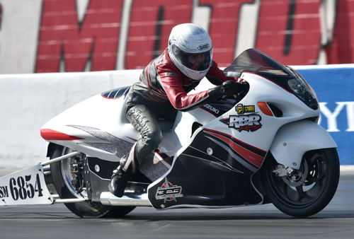 Medicine Hat's Kristen Ashby tried her hand again in NHRA Pro Stock Motorcycle - but her best run of 7.417 secs missed the quick field.