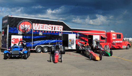 Ken Webster's racing career has included a serious fleet of various configured drag racing vehicles.